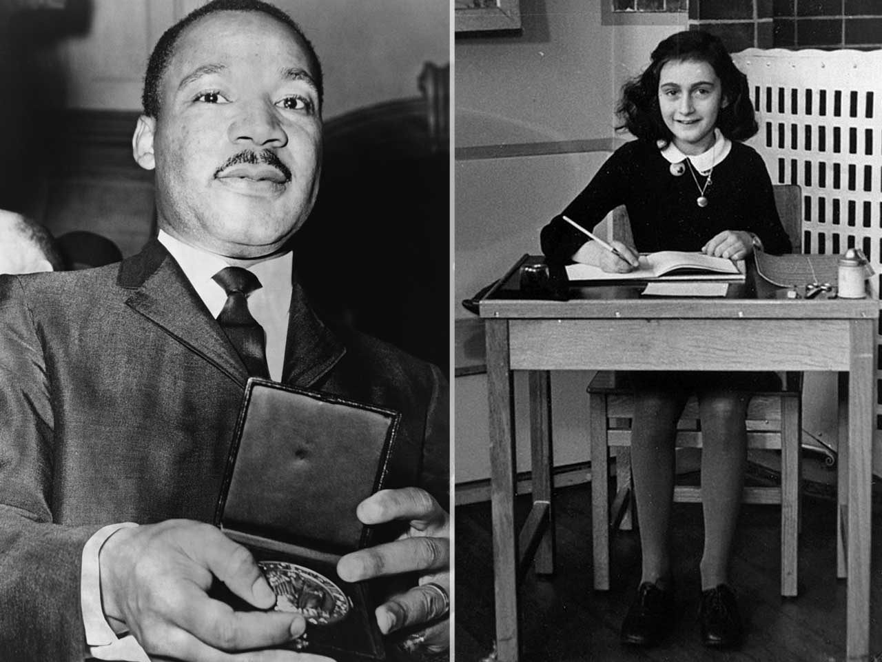 Anne Frank and Martin Luther King, Jr. were both born in the same year, 1929.