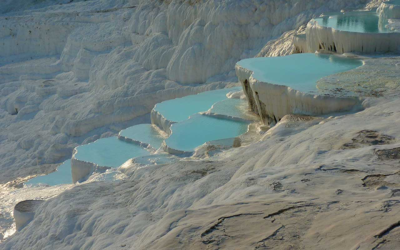 Pamukkale, Turkey, salt lakes