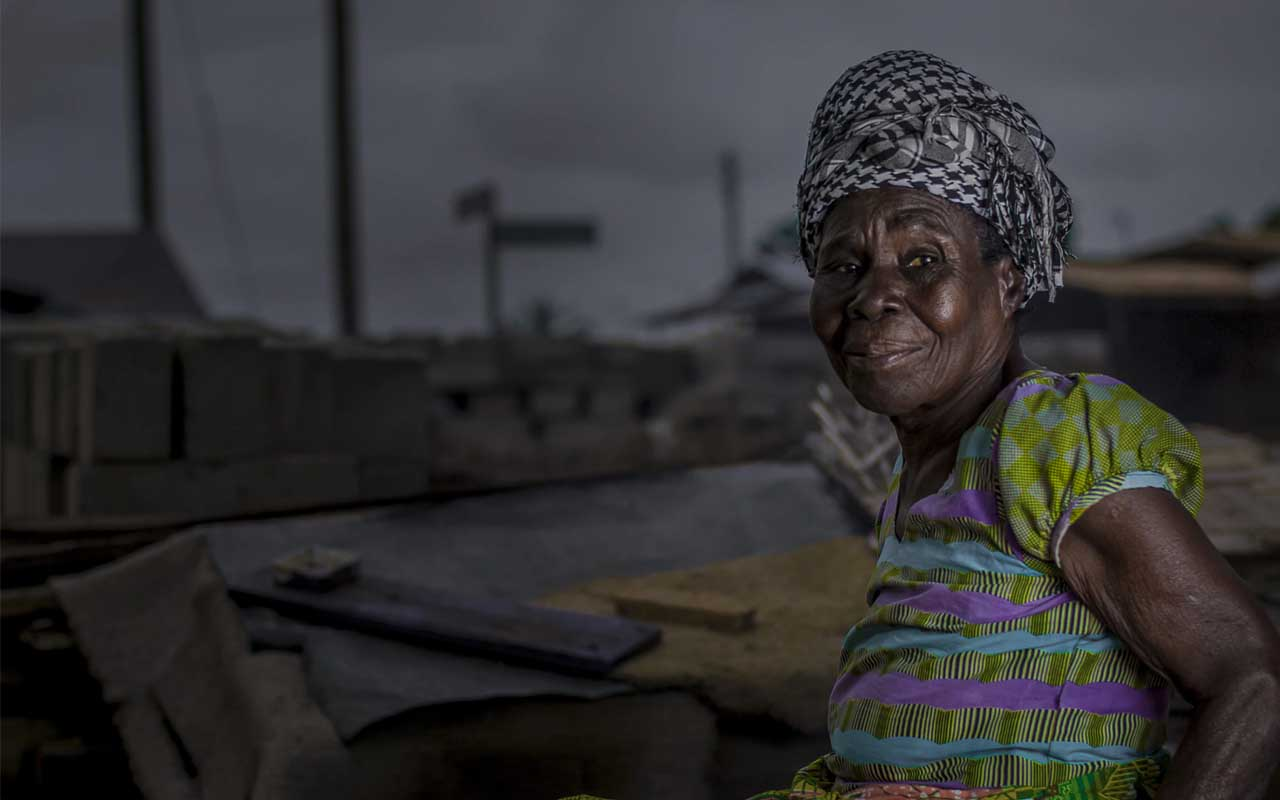 Woman, Africa, darkness, electricity, light, power, life