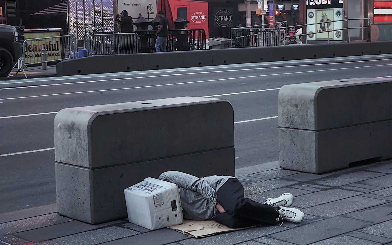 34% of the total homeless population is under 24