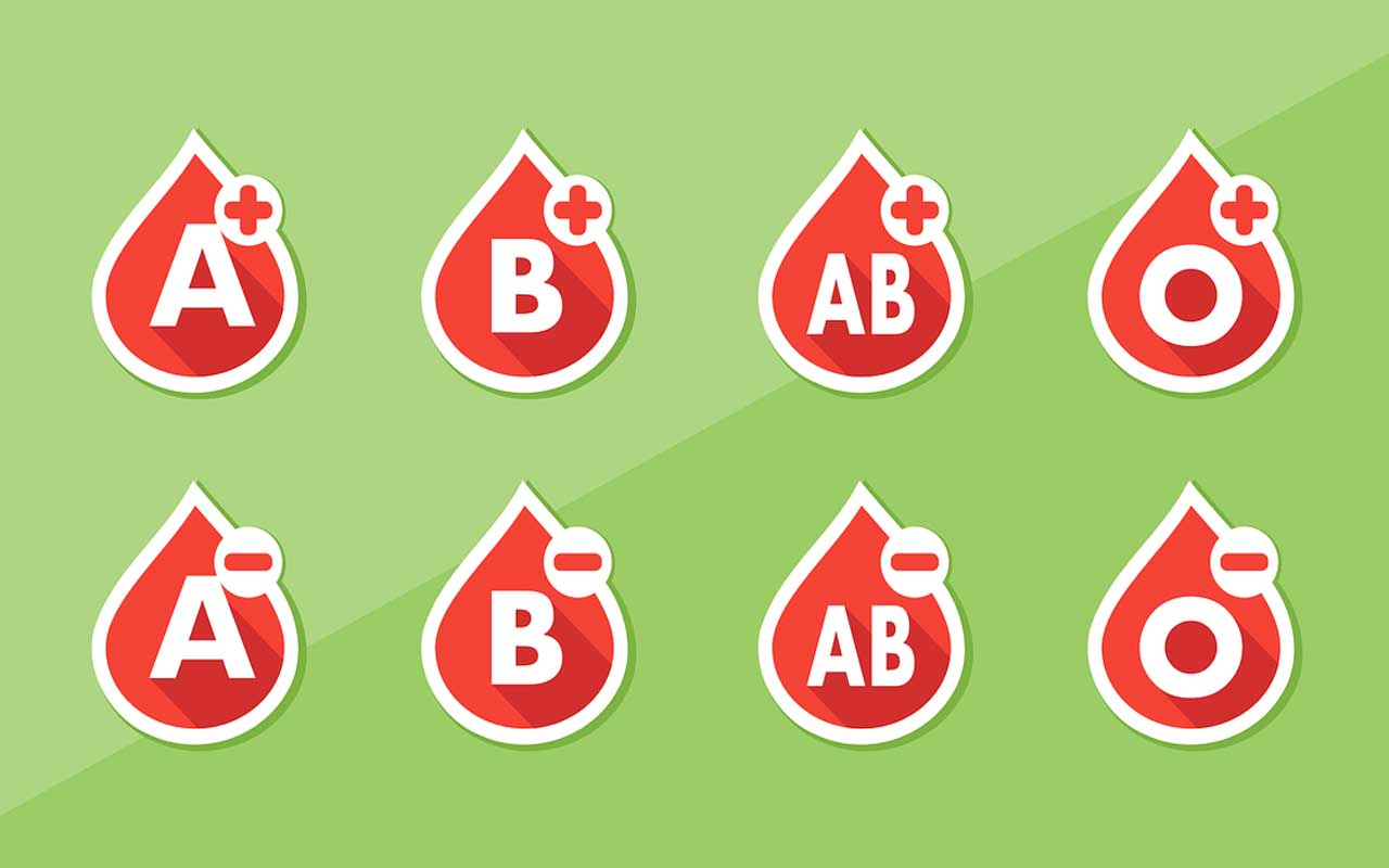 The blood type has an impact on our health.
