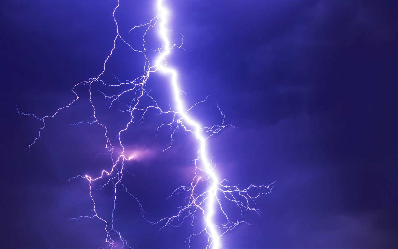 Lightning, shelter, life, people