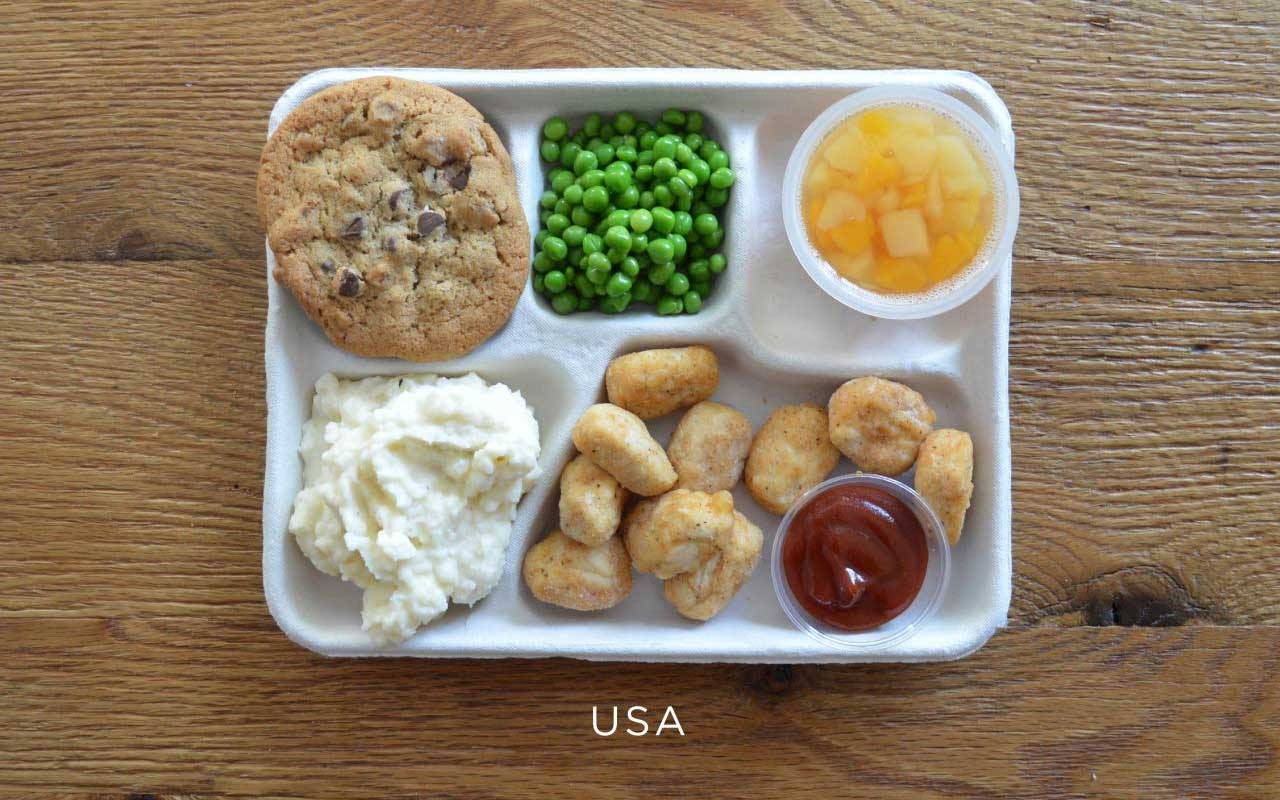 USA, food, dishes, lunch