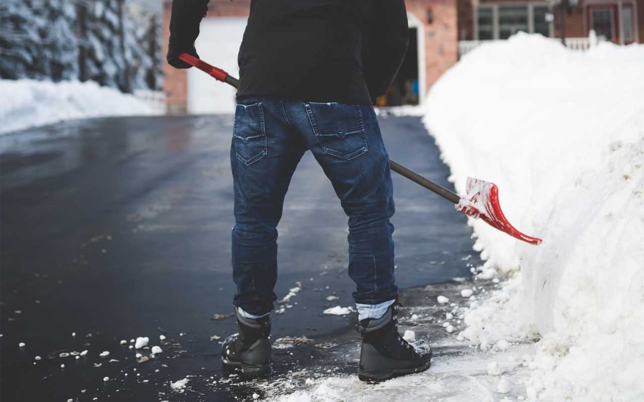 shoveling snow, life, people, Middle East, USA, winter, climate, season