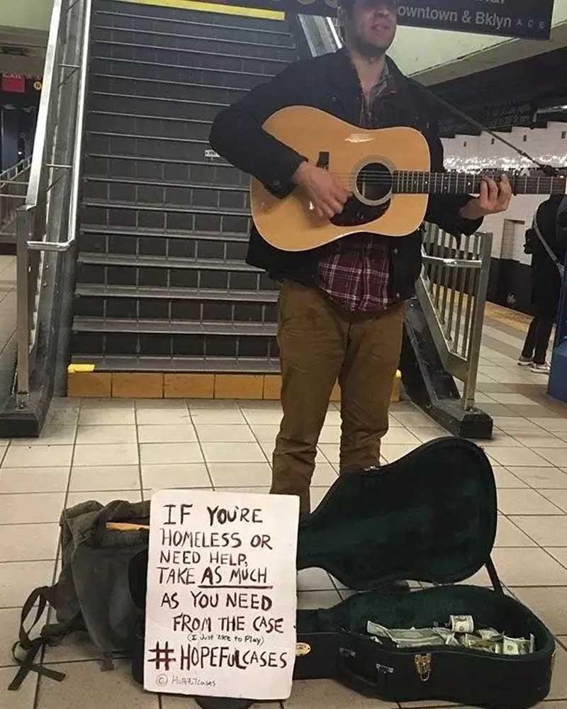 Subway, musician, playing, music