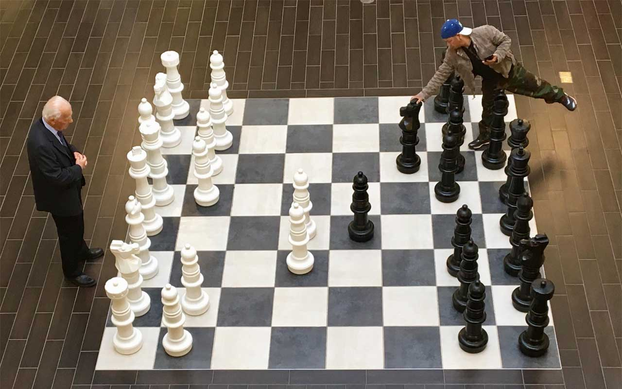 old man, chess, man, camo pants, judging, cover, book