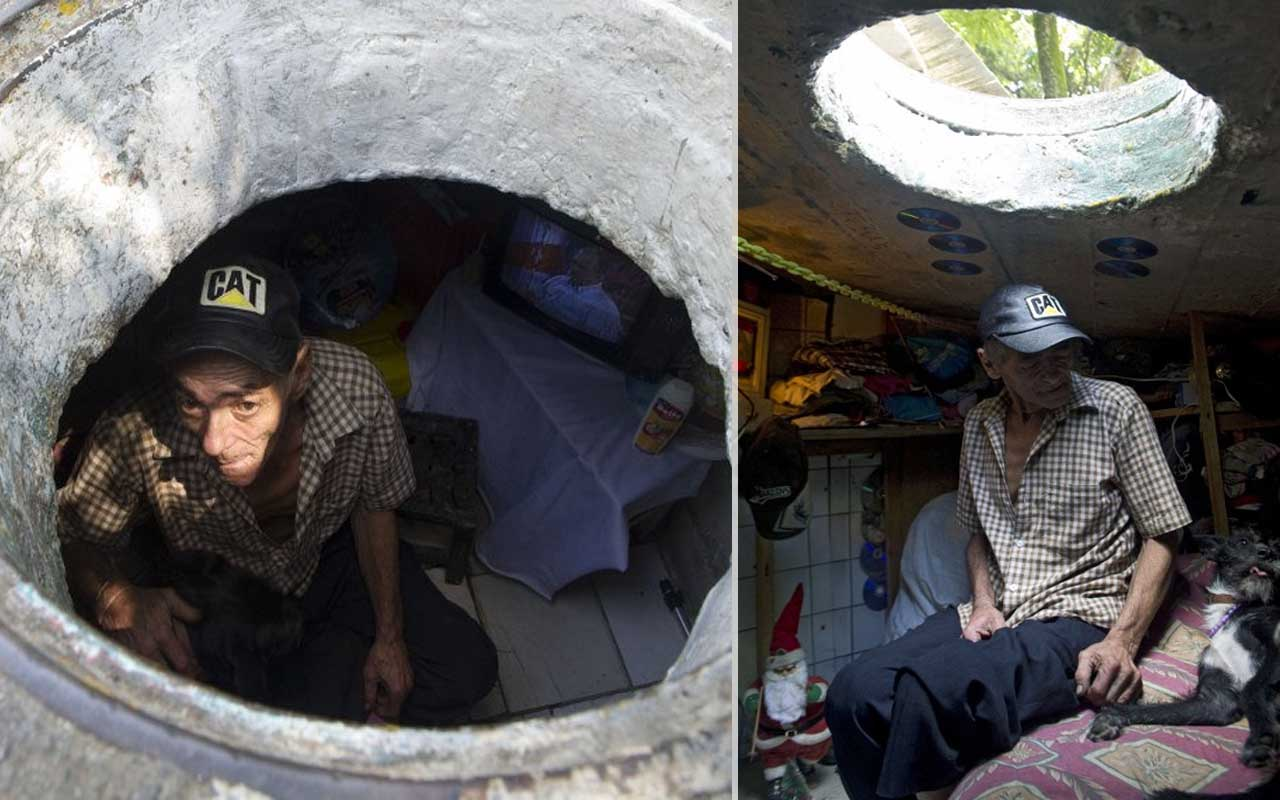 Homeless, Colombia, sewer people,