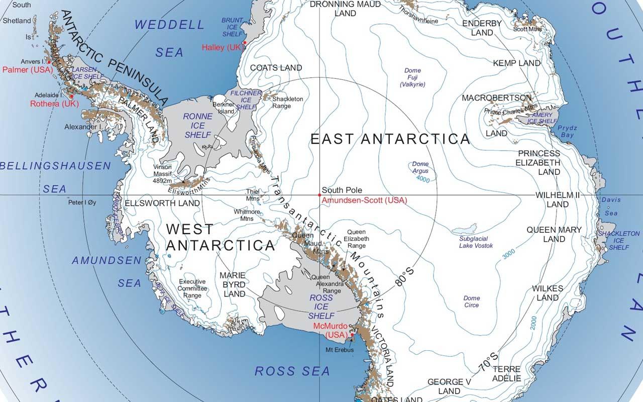 Antarctica, US, bigger, facts