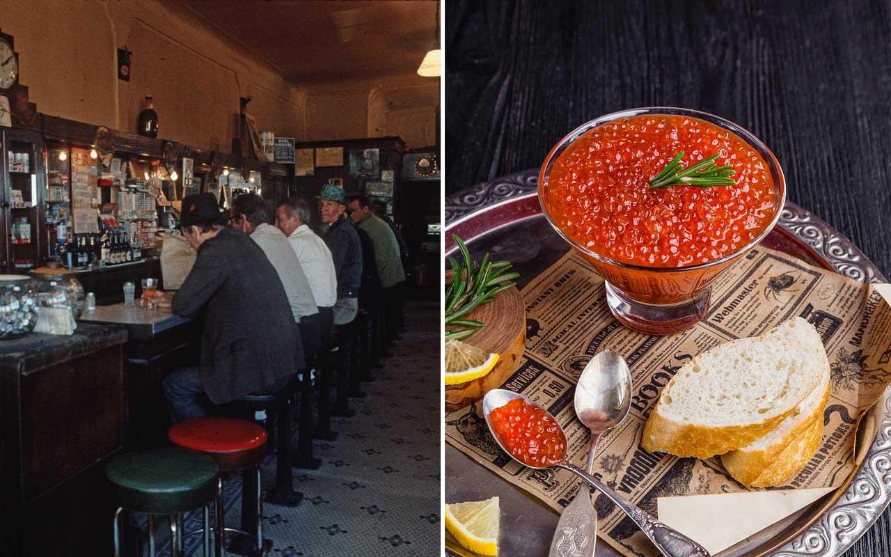 caviar, vintage, circa, life, people