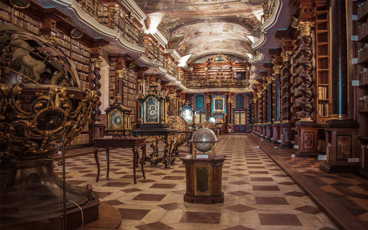 Library, libraries, Prague, history