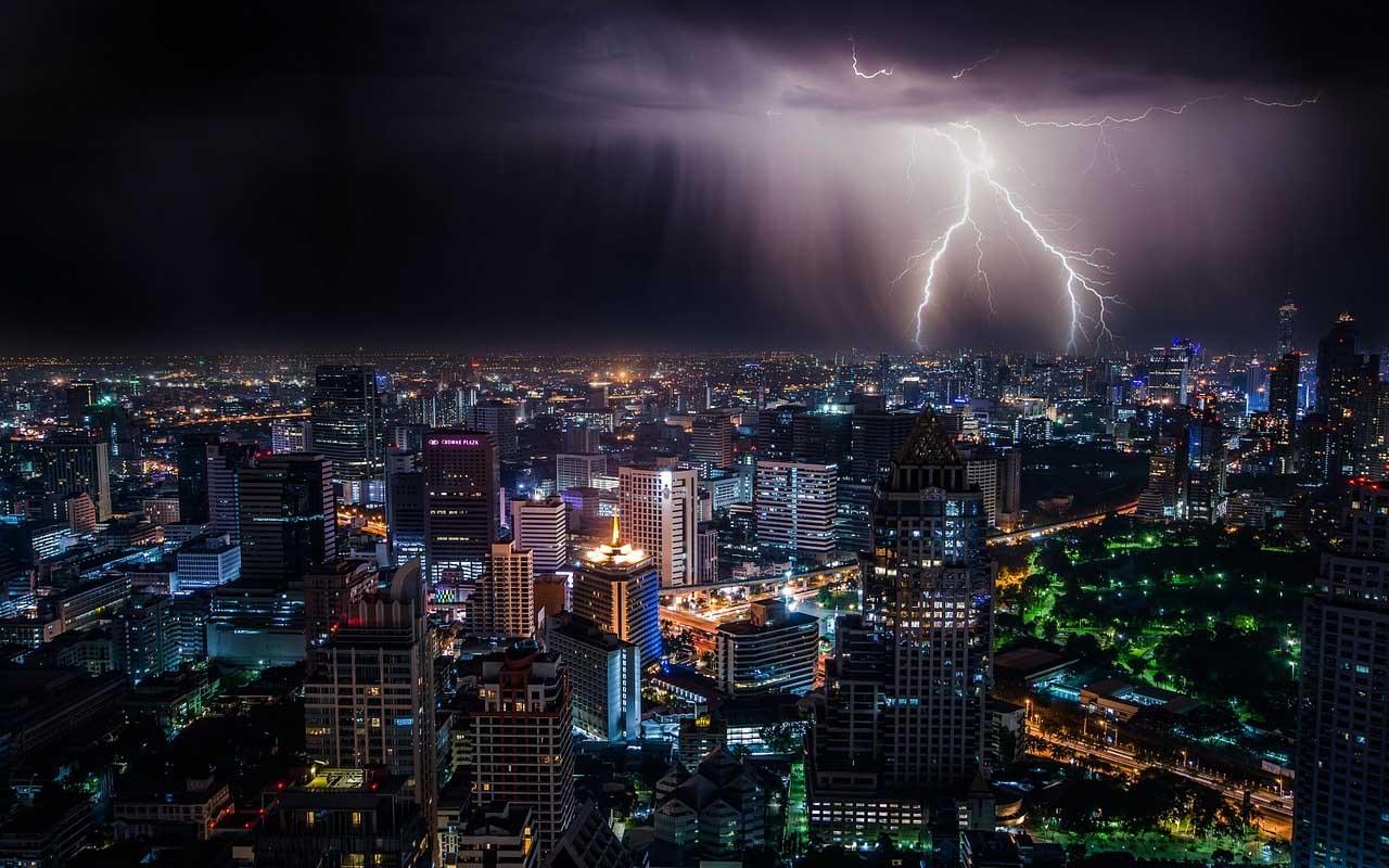 Lightning, strike, place, nature