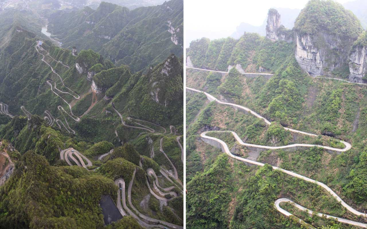 Tianmen Mountain Road, China, Vietnam