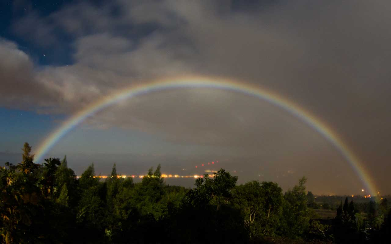 Rainbow, Moonbow, night, life, facts