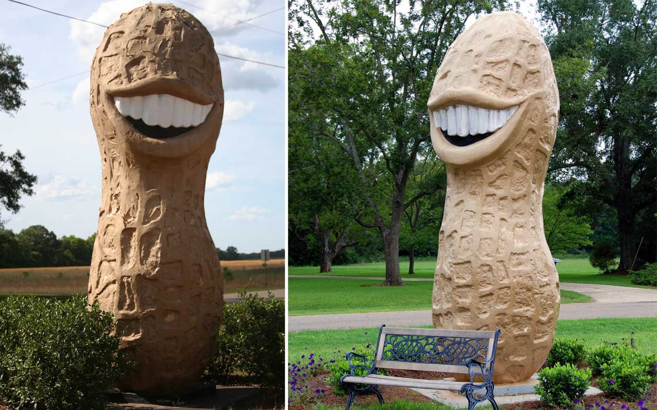 Jimmy Carter Peanut, statue, monument, unsual