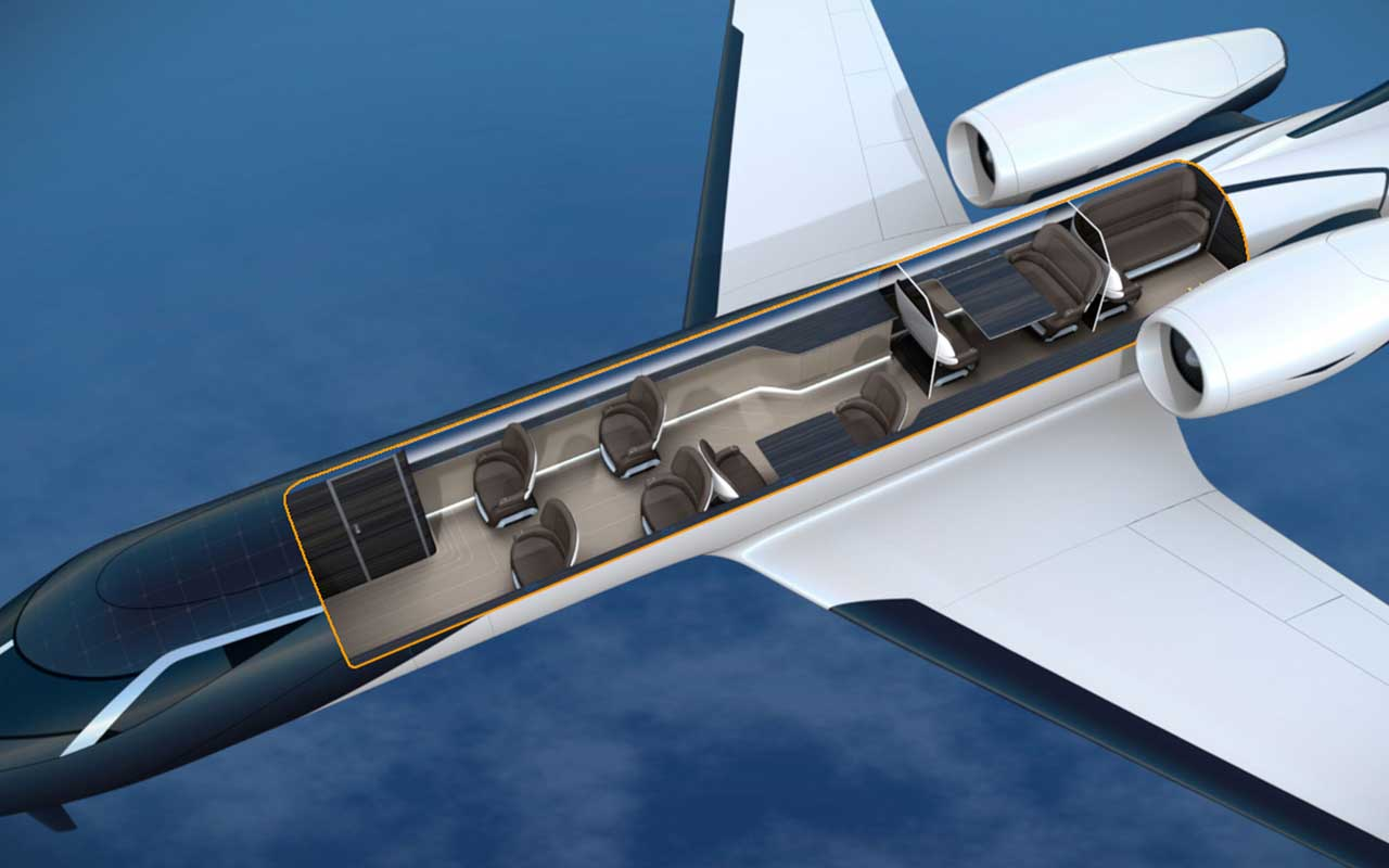 windowless planes, futuristic creation, science