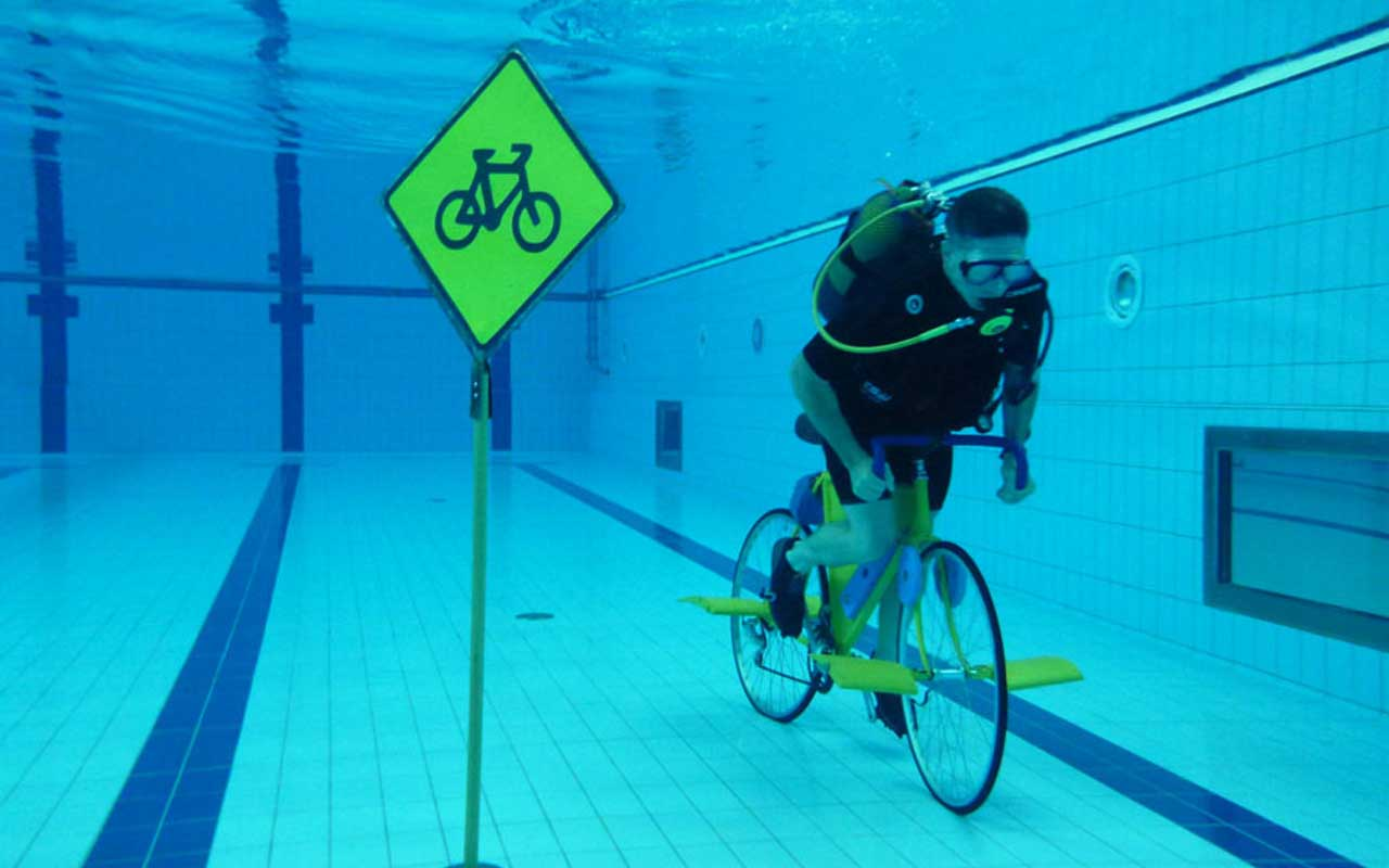California, bicycle, pool, swimming