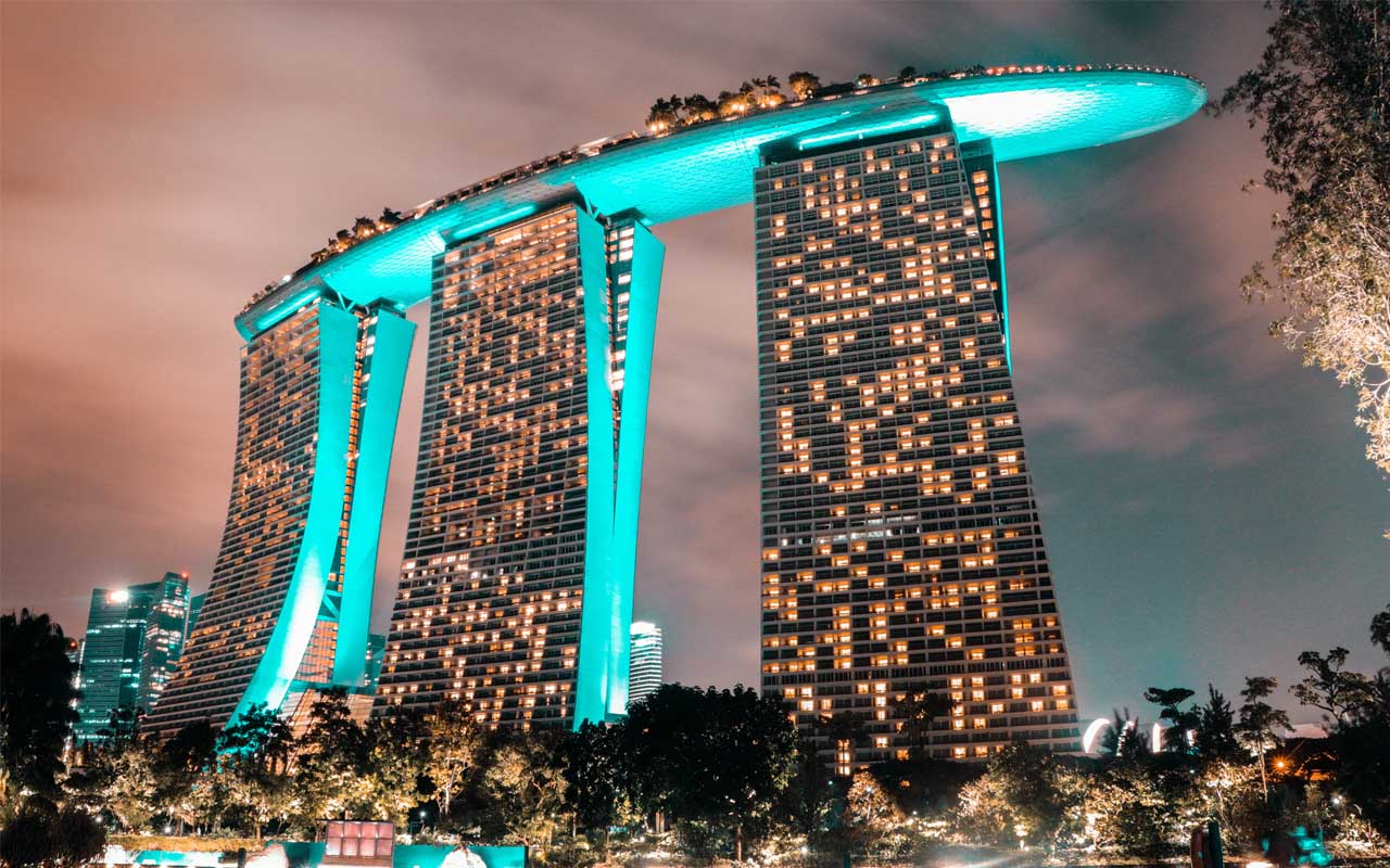 Marina Bay Sands Hotel, Singapore, roof, swimming pool, travel, hotels