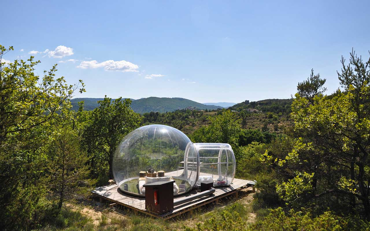 Attrap Reves Hotel, France, travel, sleeping, glass, igloo