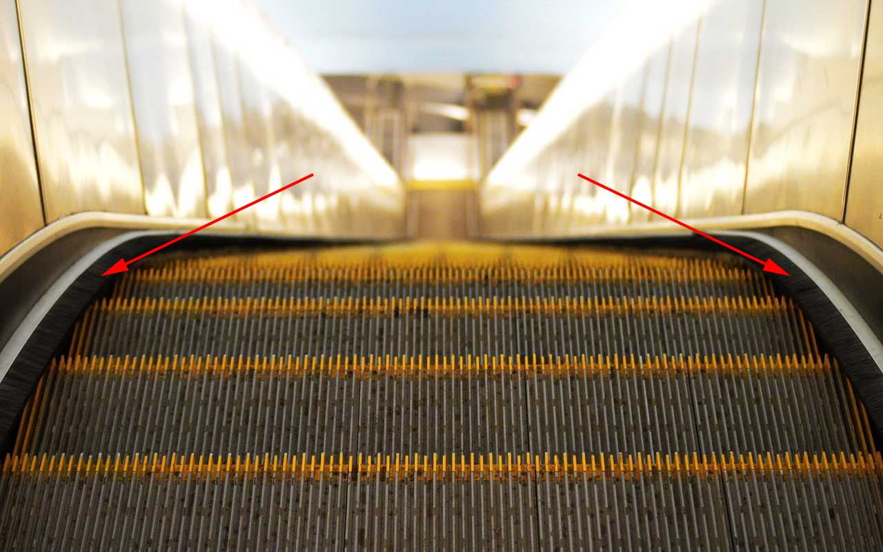 escalator, life, people, facts, purpose