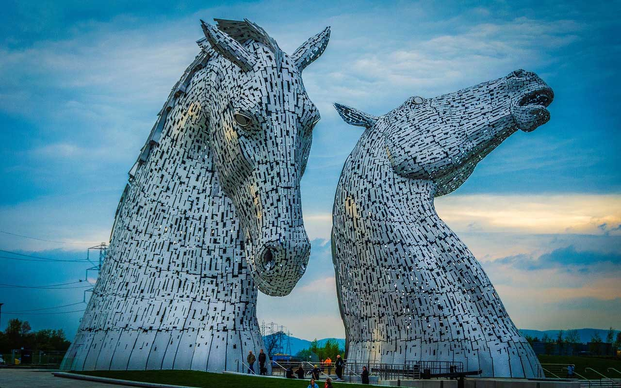 Kelpies in Falkirk, Scotland, travel, world, facts