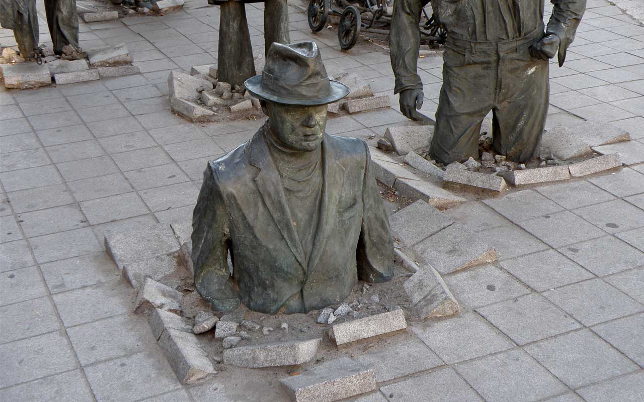 Passage by Jerzy Kalina, sculptures, Wroclaw, art