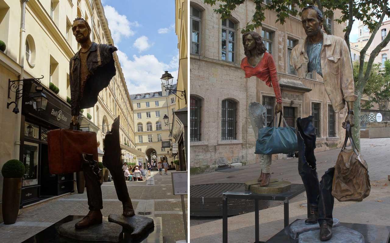 Les Voyageurs (Travelers), Marseilles, France, artwork