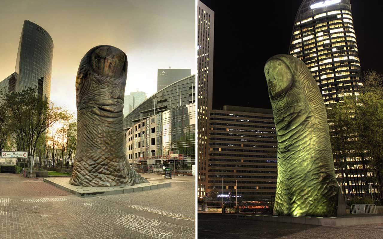 Le Pouce, France, thumb, finger, art