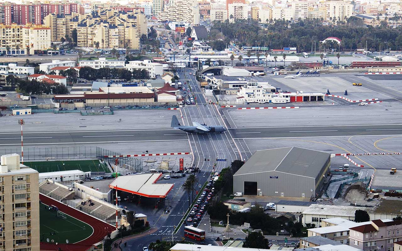 Gibraltar International Airport, Gibraltar, travel, airports, adventure, road, life