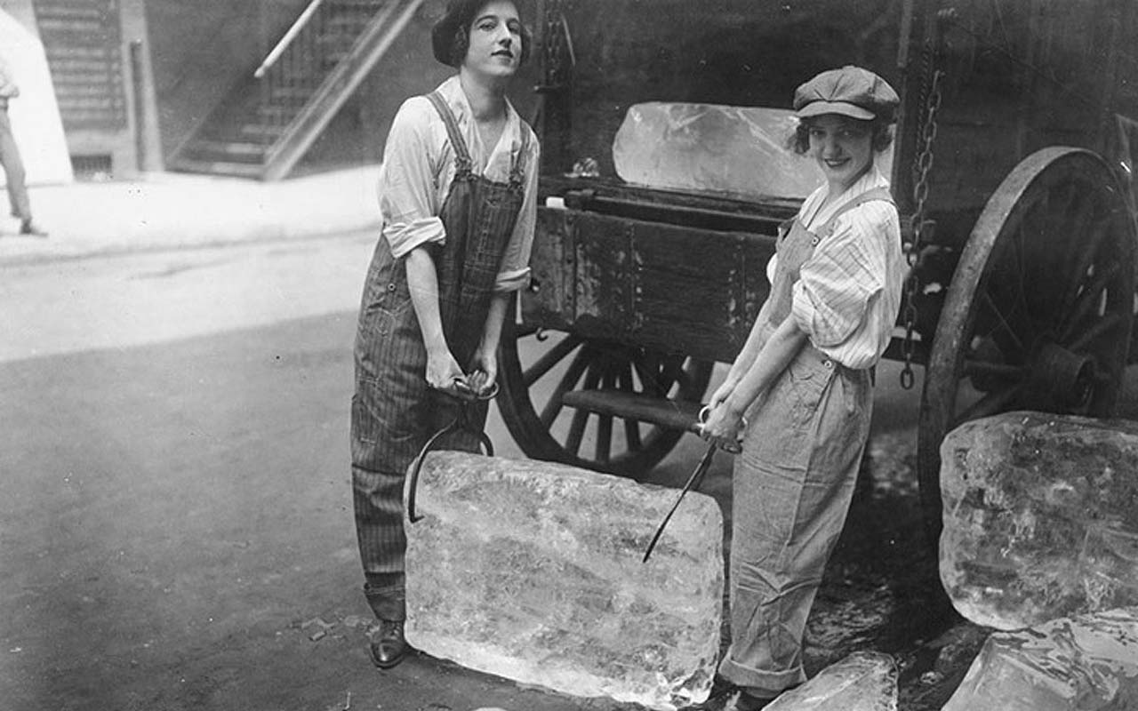 women, young, ice, delivery, facts, life, historical