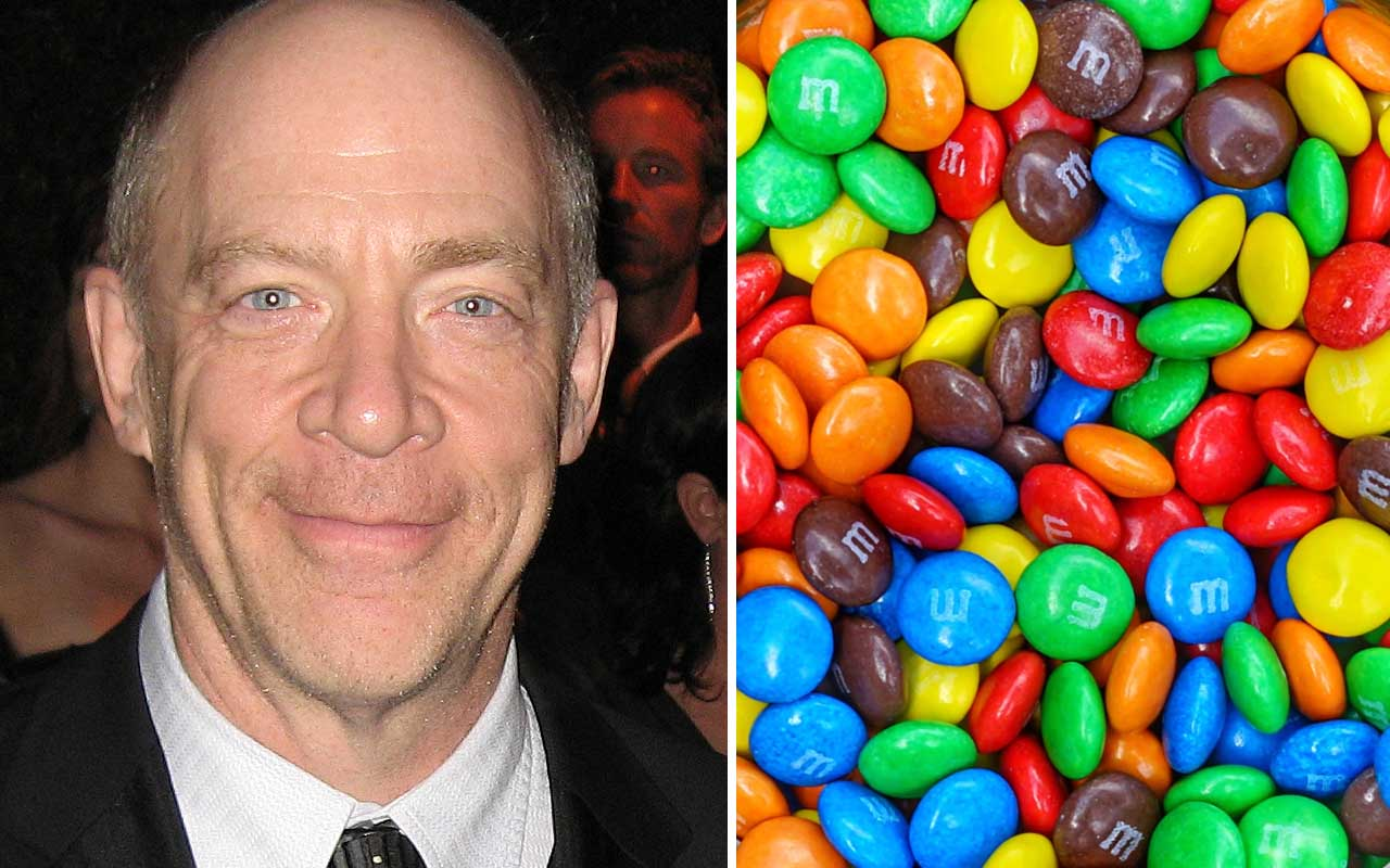 JK Simmons, M&M, yellow, candy, chocolate, facts, life, tracks