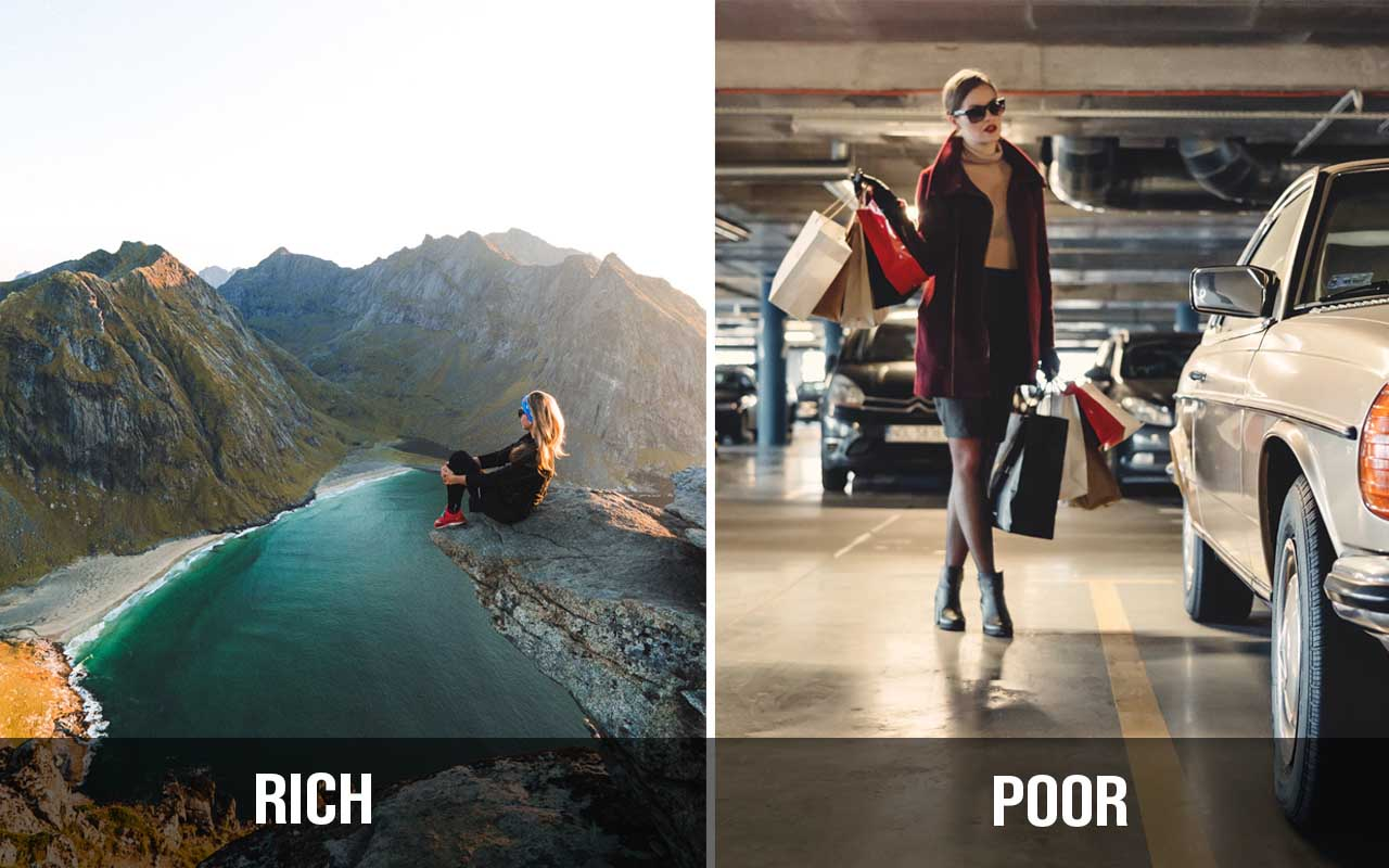 rich, poor, facts, success, rules, life, people