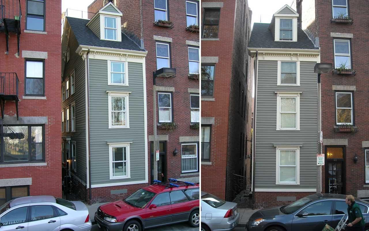Skinny House, Boston, Massachusetts, spite house, history, life, people