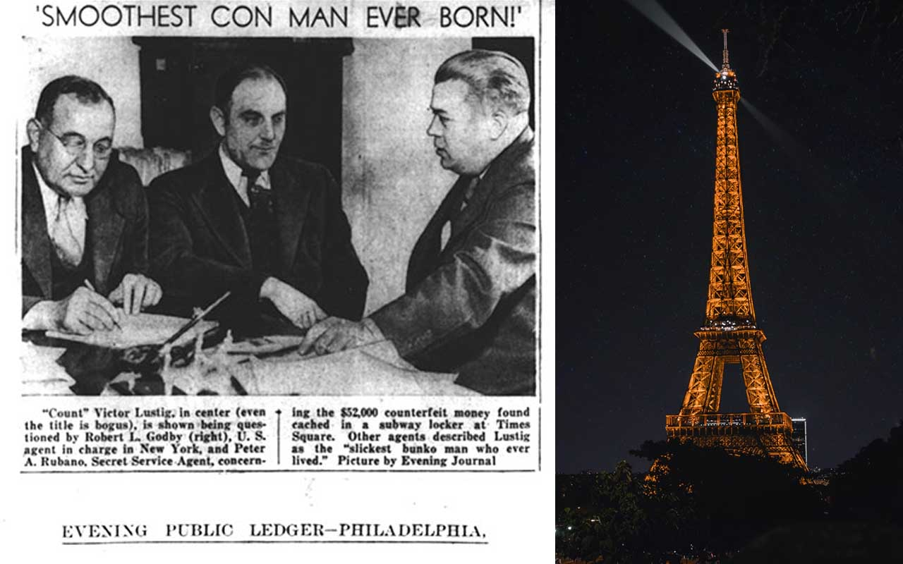Victor Lustig, Eiffel Tower, Paris, Con man, artist, facts, history
