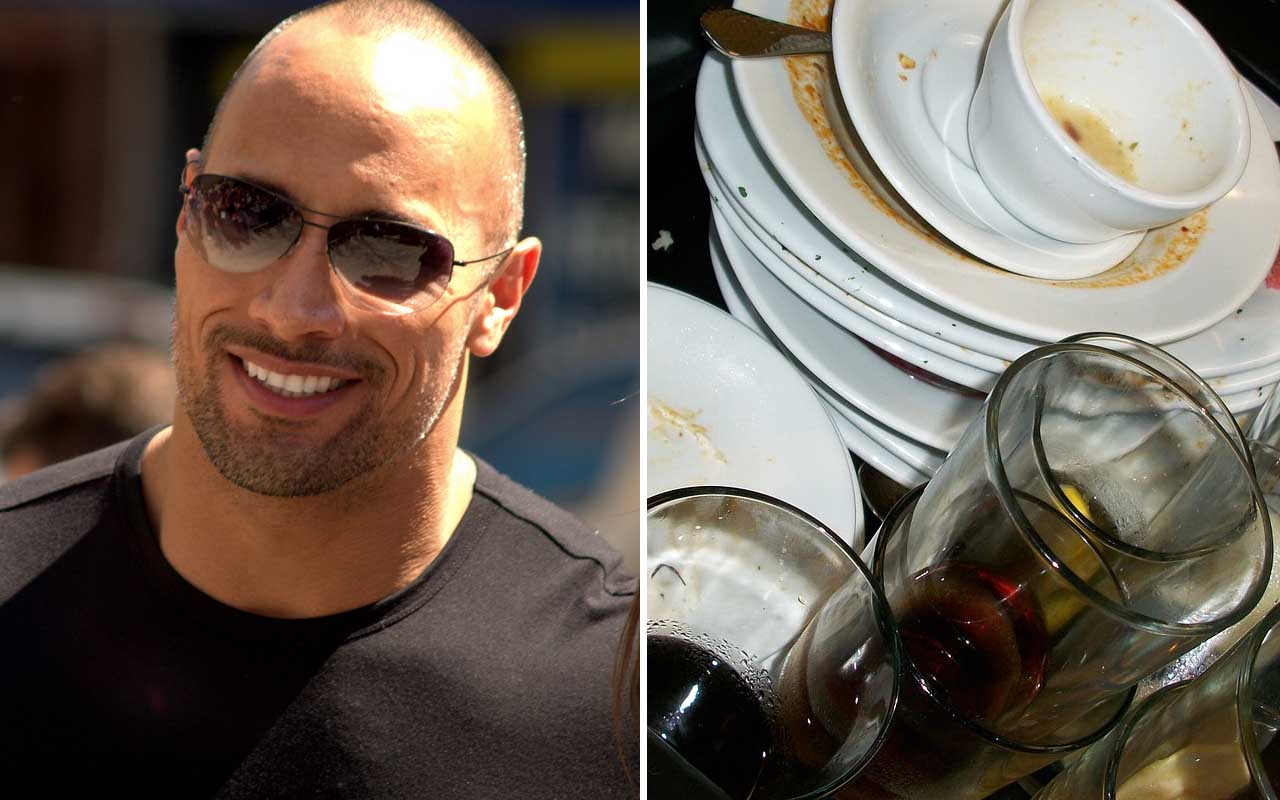 Dwayne Johnson, Dish Washer, celebrities, facts, life, people, weird, funny, fame