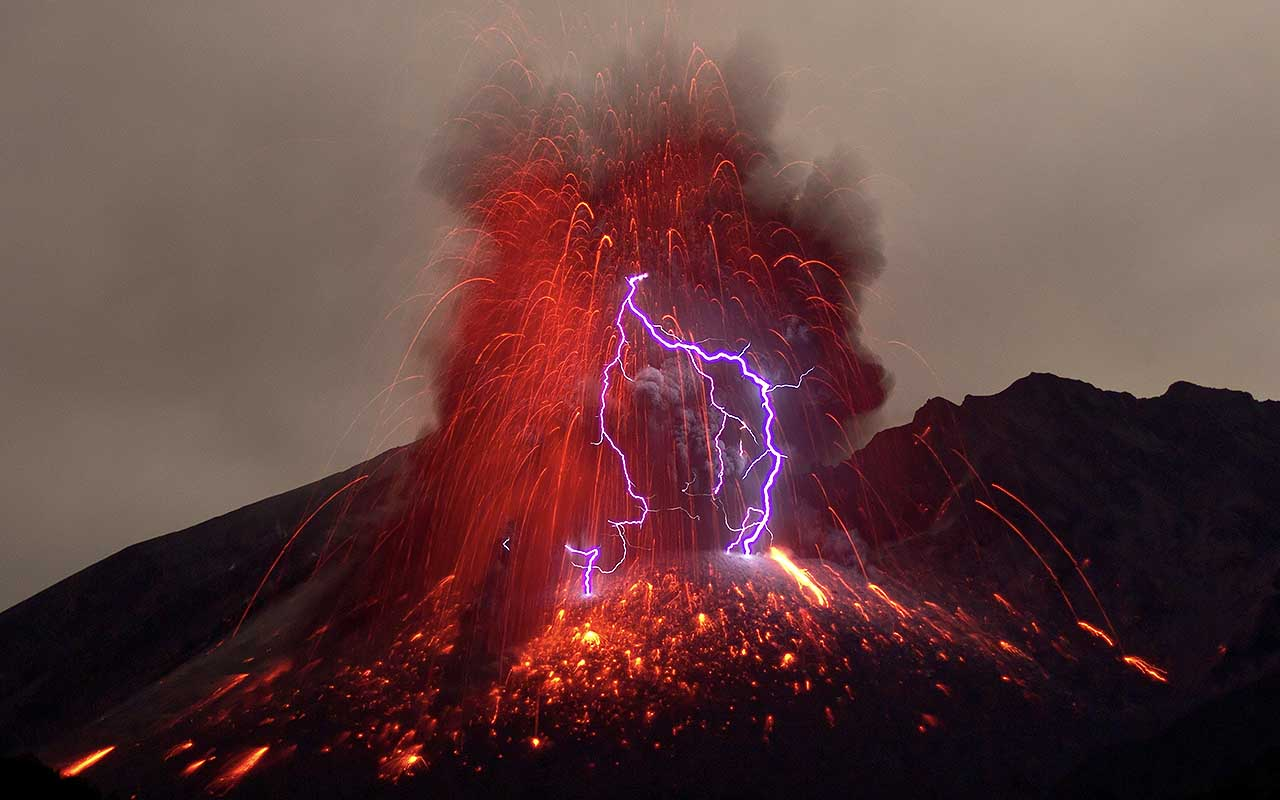volcanic lightning, earth, natural, life, facts, amazing