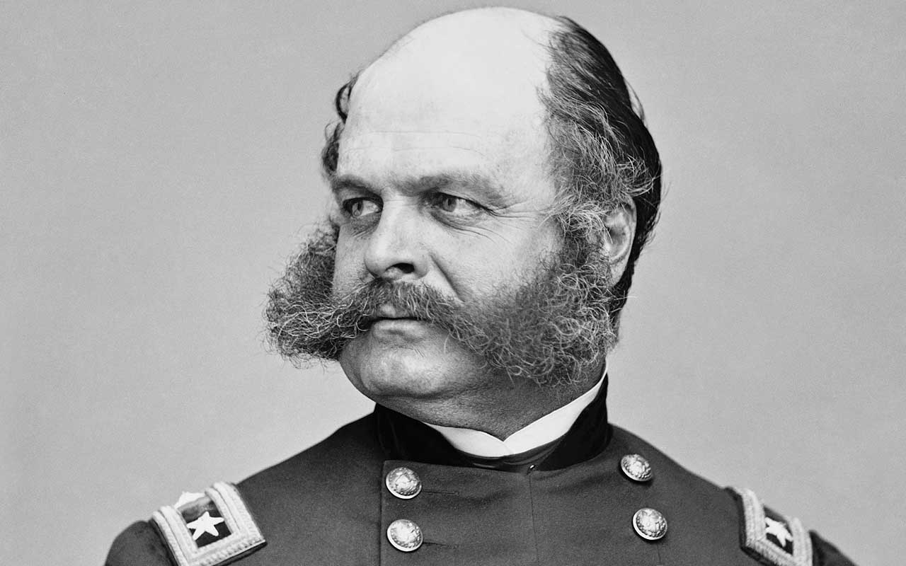 sideburns, beard, life, Ambrose Burnside, General, life, facts, words