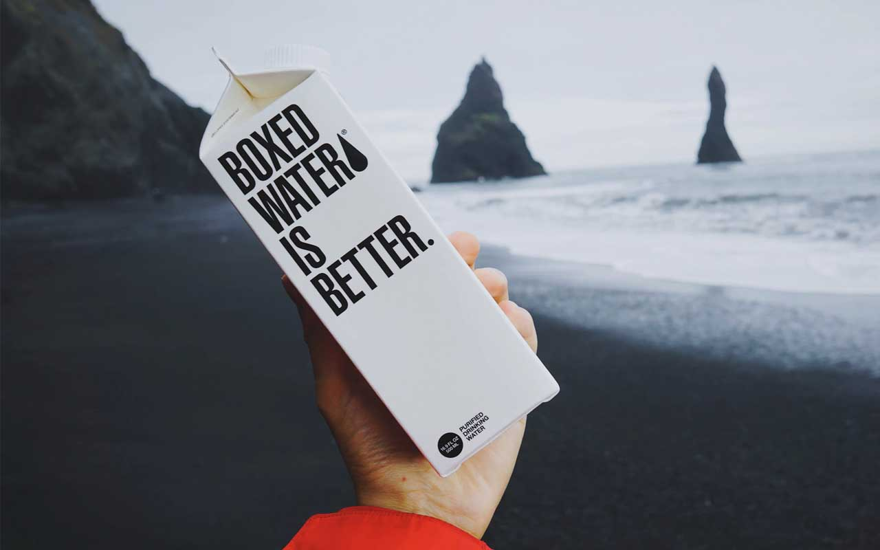 Boxed water, plastic, pollution, facts, life, people, banana, leaves