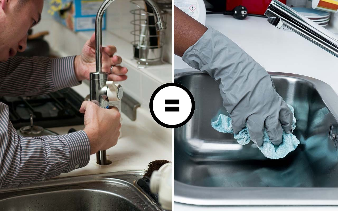 cleaning, sink, dirty, facts, chlorine, people, health