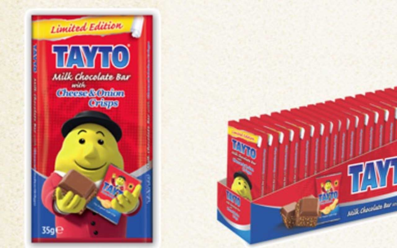Cheese & Onion Potato Chip Flavored Chocolate Bar, Tayto, foods, facts, candies