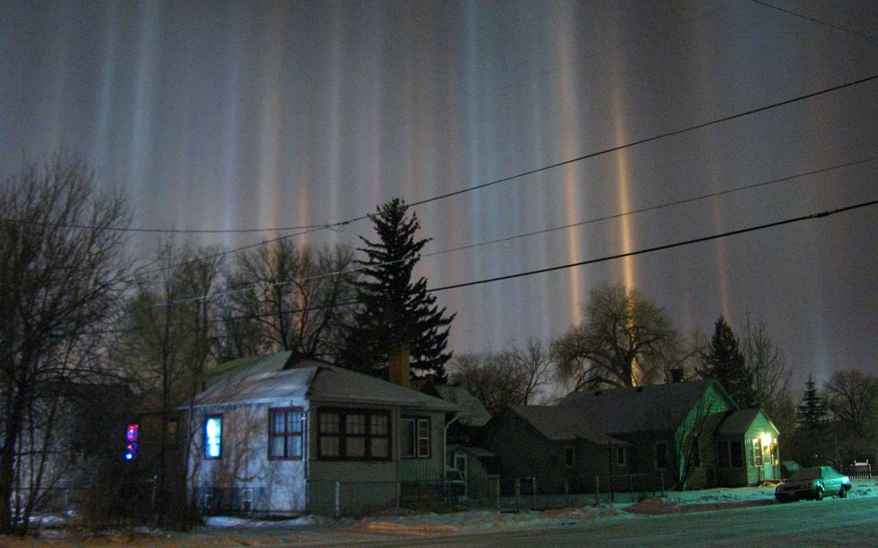 light pillars, facts, people, life, incredible, weird, nature