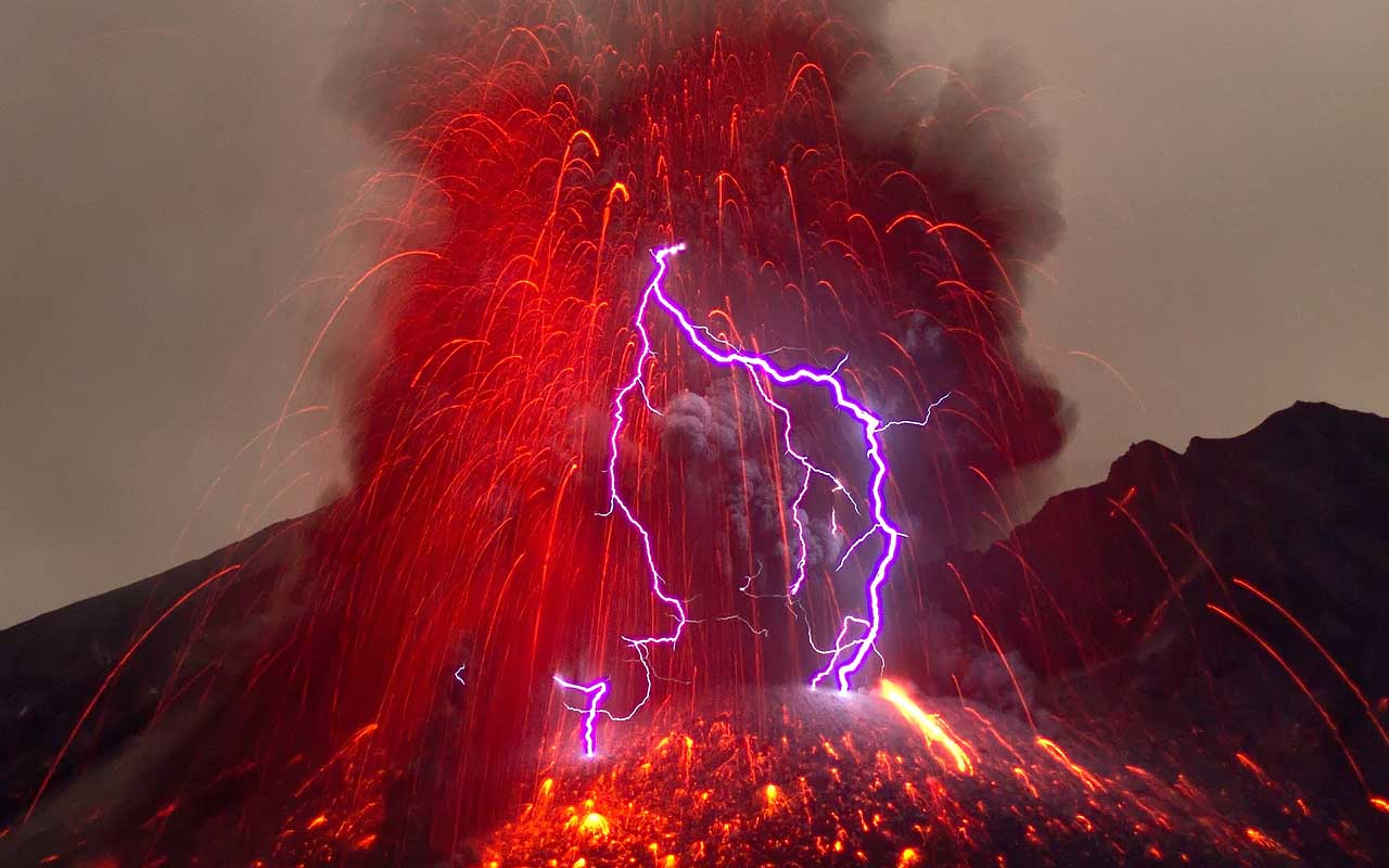 dirty thunderstorms, lightning, volcano, incredible, facts, nature