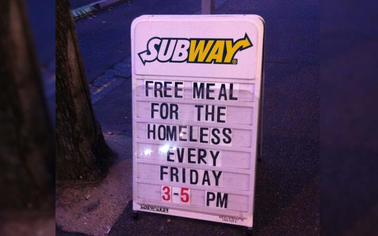 Subway, food, facts, life, people, kindness, faith