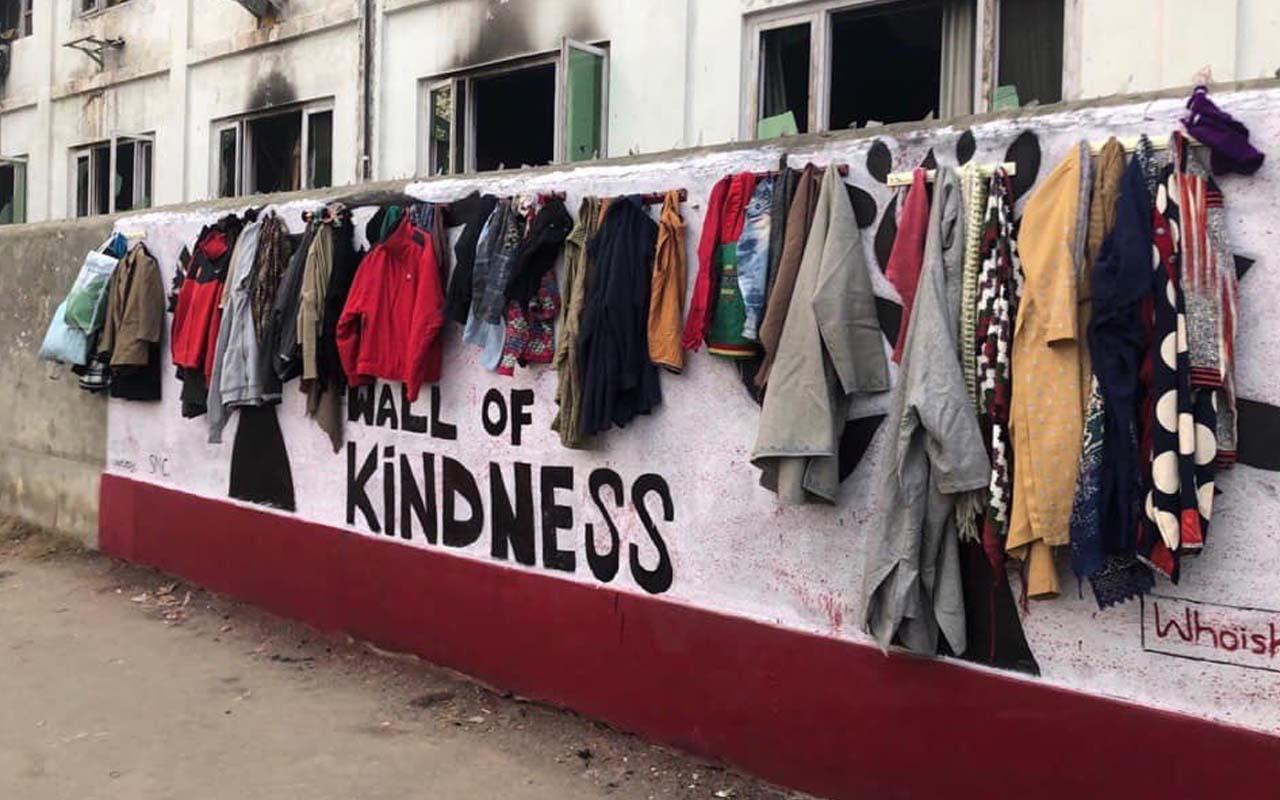 Wall of kindness, facts, life, people, Srinagar, India