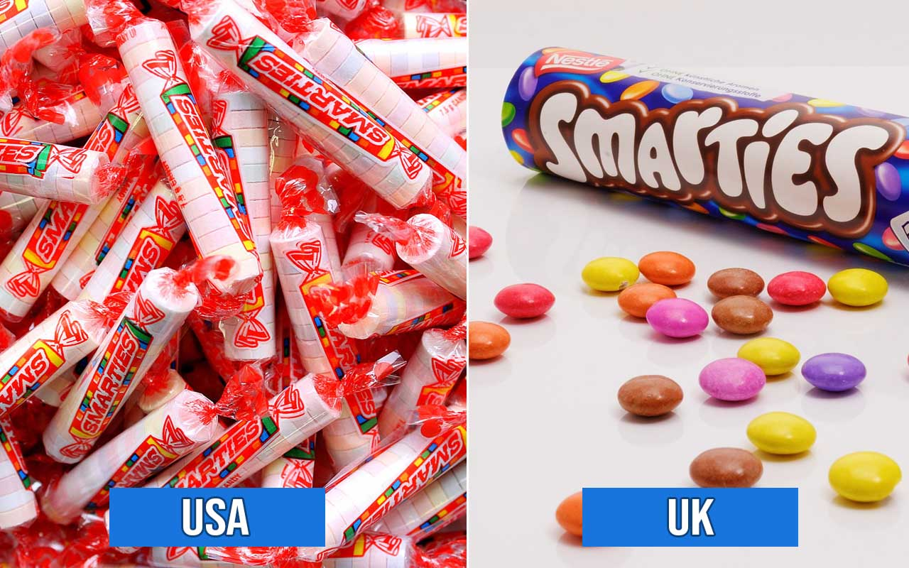 smarties, foods, M&M's, facts, candy, sweet, countries