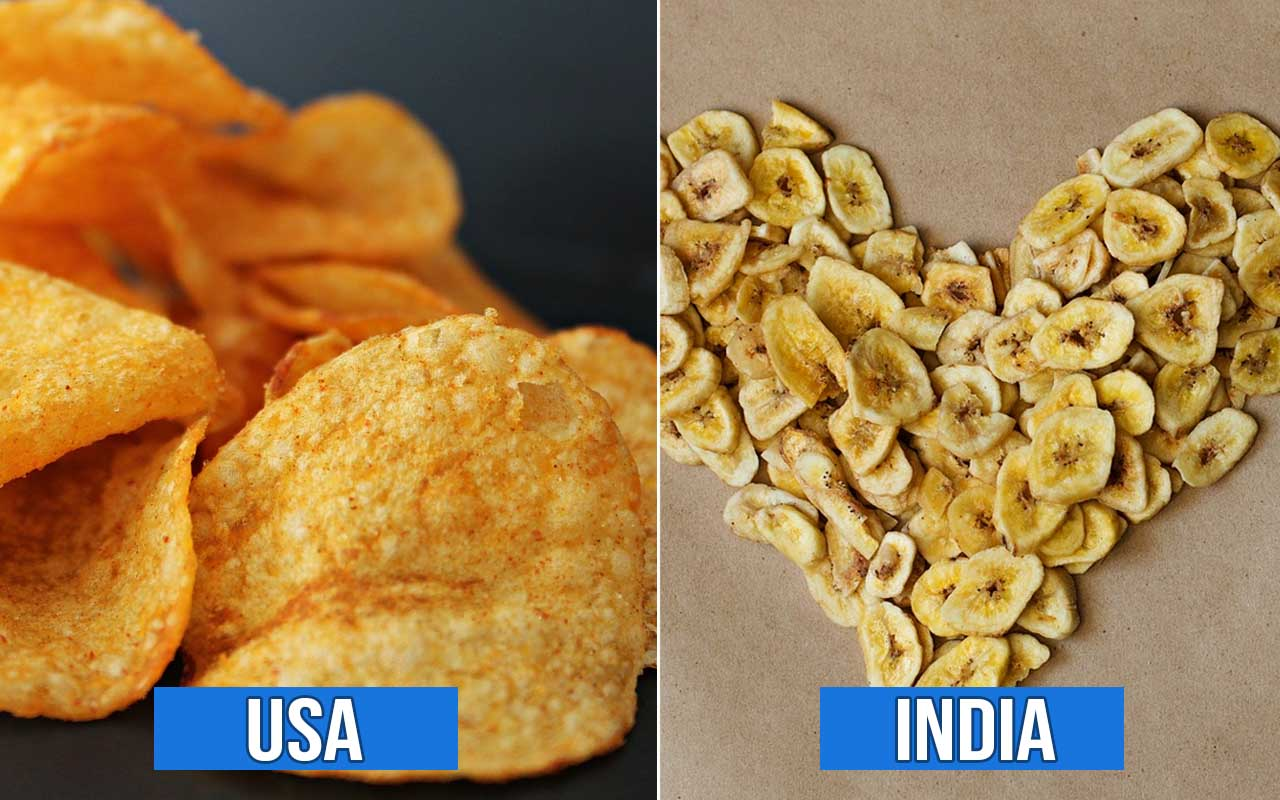 Chips, India, USA, foods, countries, facts, life, culture