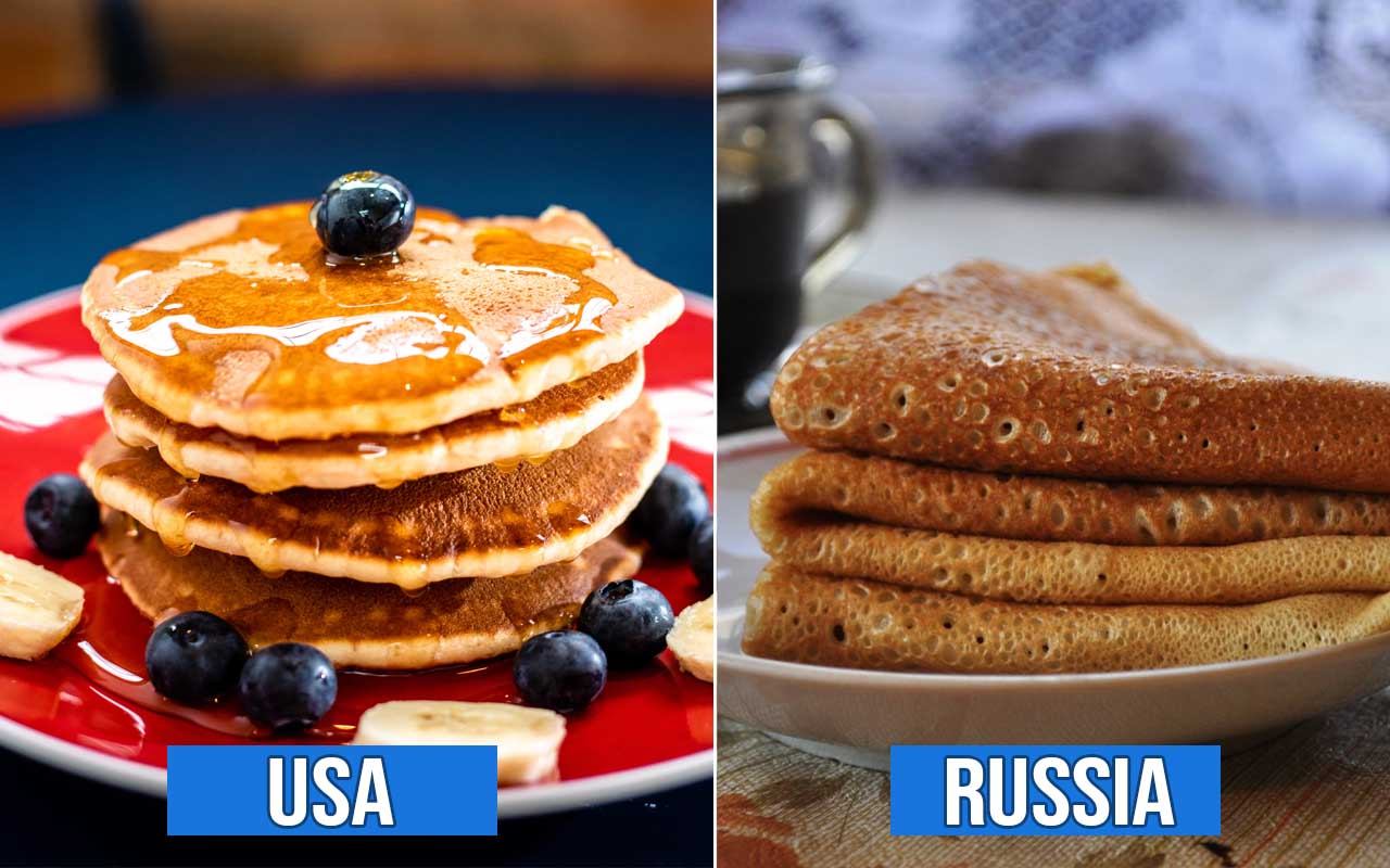 Russian pancakes, USA, countries, facts, foods, life, culture, weird