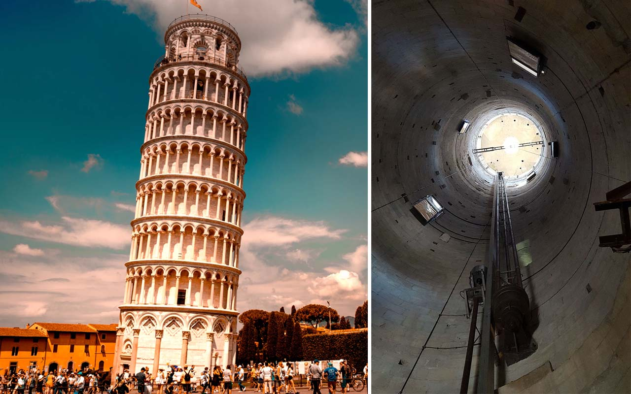 Leaning tower of Pisa, Italy, Rome, architecture, facts, curious