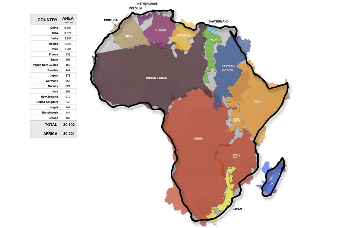 Africa, countries, size, comparison, facts, life, people, maps