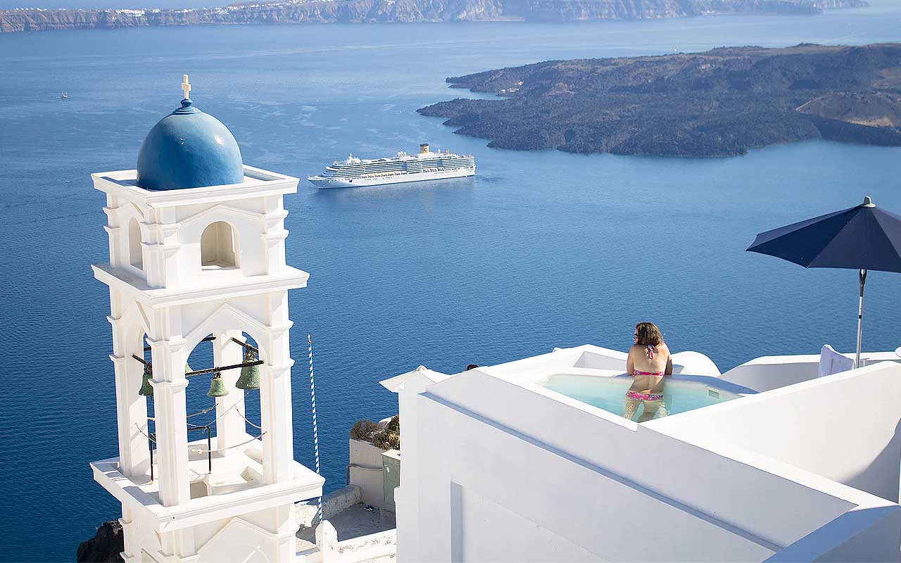 Greece, white, light, roof, carbon emissions, global warming