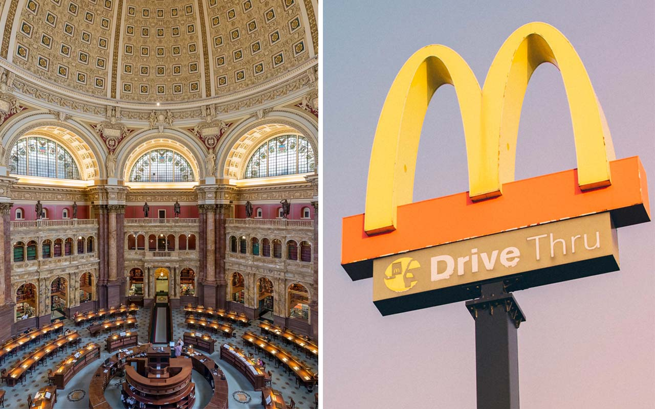 McDonald's, library, facts, world, United States, fast food, restaurant